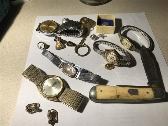Group Lot Knife, Watches, Pennsylvania RR etc