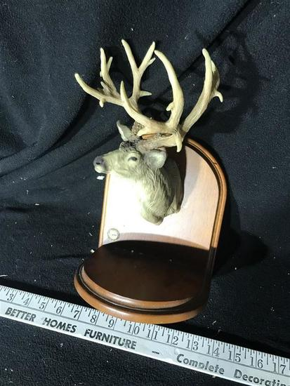 Deer Head with Antlers Bookend