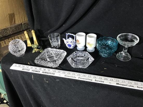 Group Lot Crystal, Glass etc