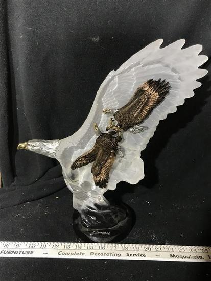 Large Acrylic Sculpture of an Eagle K. Cantrell