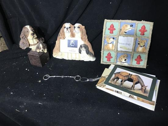 Dog and Horse Collectibles Items Lot