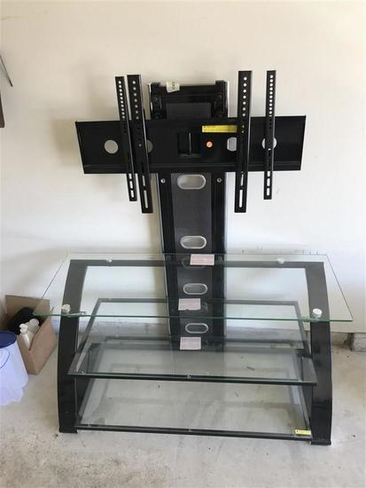 Nice Television stand with Glass shelves