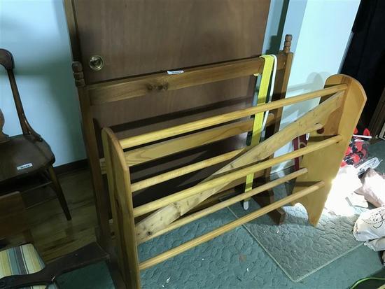 Two Wooden Quilt Racks