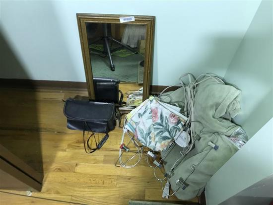 Group Lot Items in Closet - Cameras, mirror etc