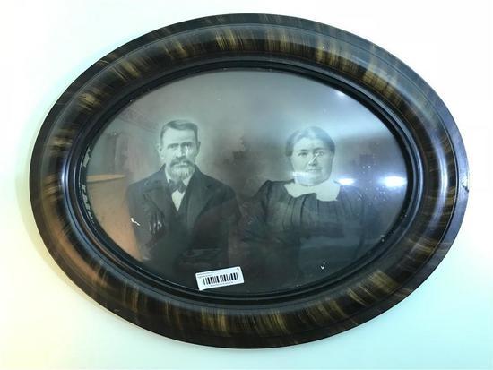 Oval framed antique photograph