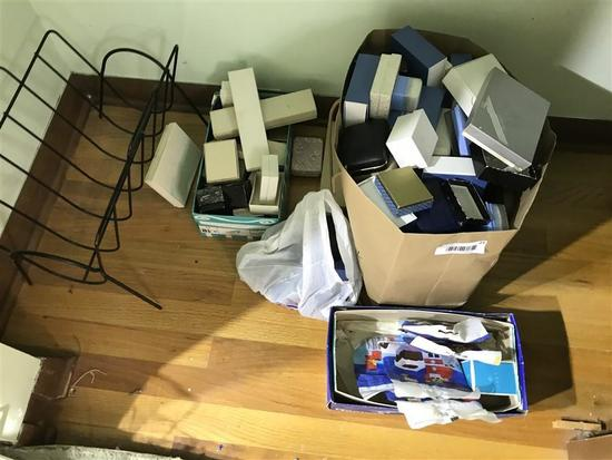 Large Lot of Empty Jewelry Boxes, Legos
