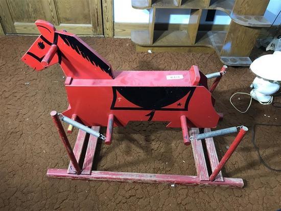 Vintage Wooden Hobby Bouncy Horse