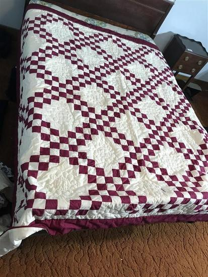 Large Comforter Quilt with some hand stitching