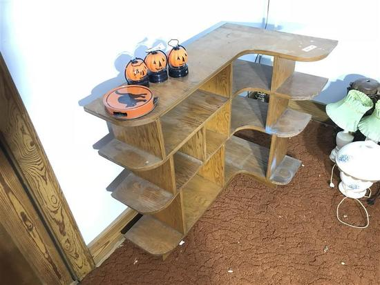 Curved Wooden Shelf