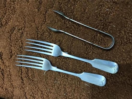 Hallmarked Forks and Tongs