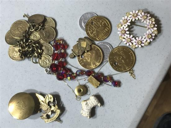 Jewelry Lot Inc. Tokens, Boy Scouts, Pin, 14k Gold