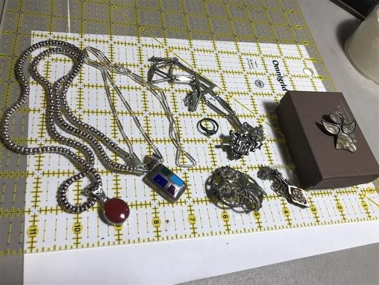 Group Lot Vintage Sterling Silver Jewelry 92 grams