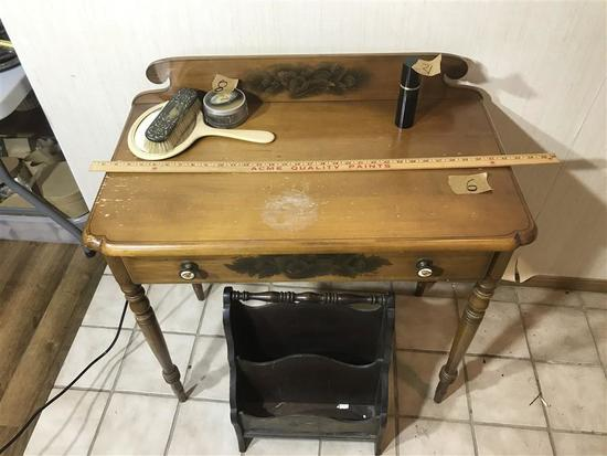 Vintage Wooden Hitchcock Style Table or Desk