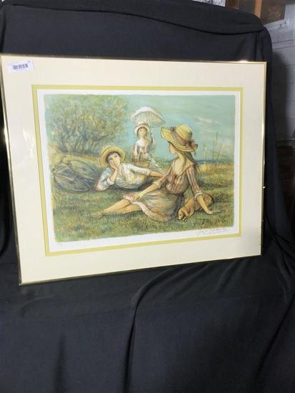 Vintage Ltd Edition Print Signed Jacques LaLande