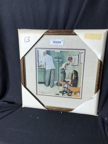 Vintage Framed Print Norman Rockwell