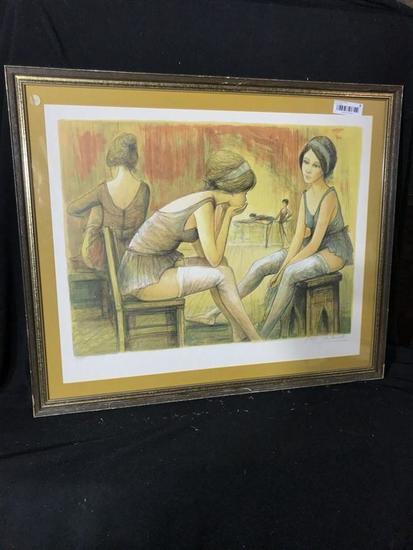 Vintage Ltd Edition Print Signed LaLande