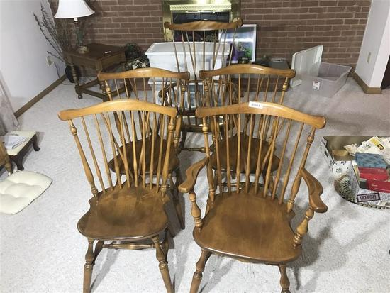 Group of 5 Ethan Allen Dining Room Chairs Nice