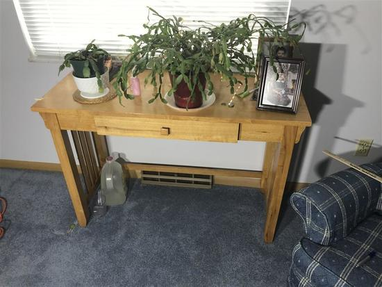 Light Colored Wood Side Table