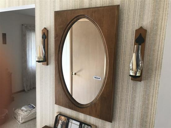 Vintage Mirror and Decorative Candle Holders