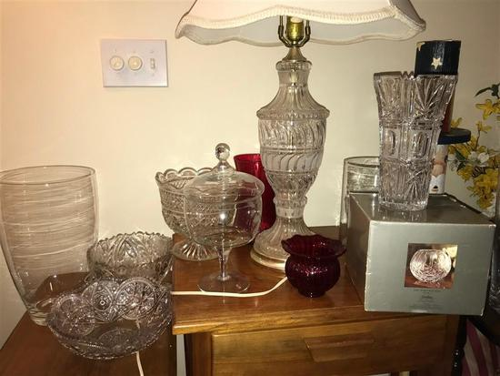 Group Lot of Glass and Crystal items