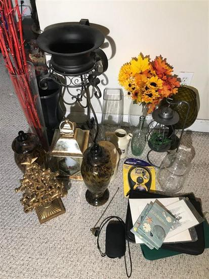 Group lot assorted decorative items and more