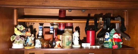 Shelf Lot Assorted Decorative Items