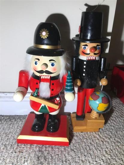 Two Christmas Wooden Nutcrackers