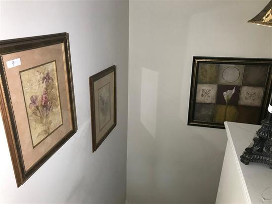 Group of 5 Framed Decorative Pieces