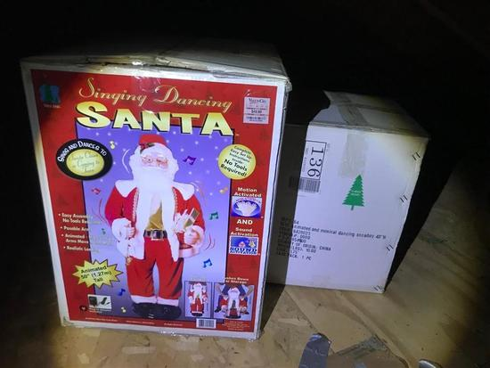 Two Battery Operated Animatronic Christmas Pieces