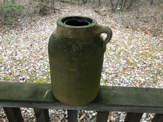 Antique Stoneware Jar Container w/Handle