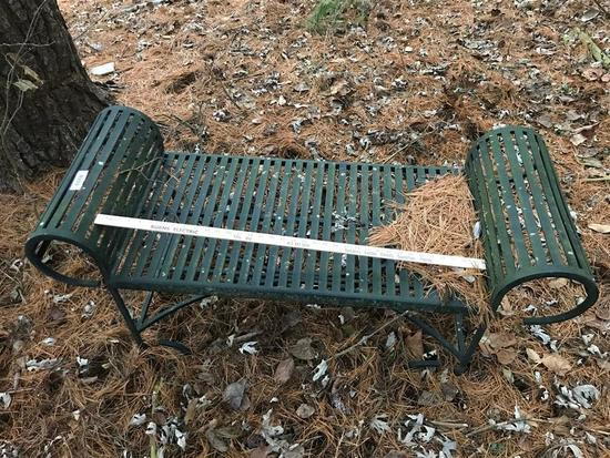 Vintage Metal Garden Bench