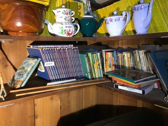 Shelf Lot of Vintage Books Etc