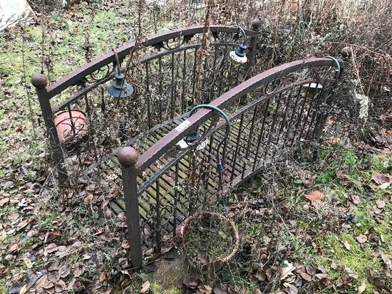 Vintage Metal Garden Bridge