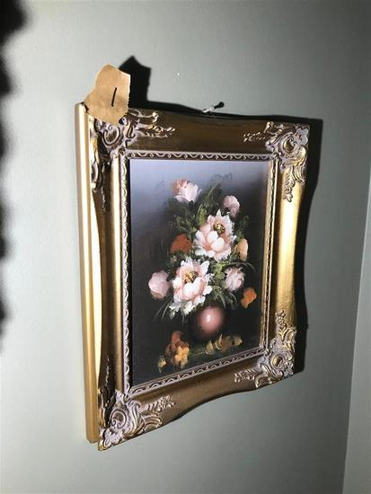 Vintage Oil on Canvas Painting in frame