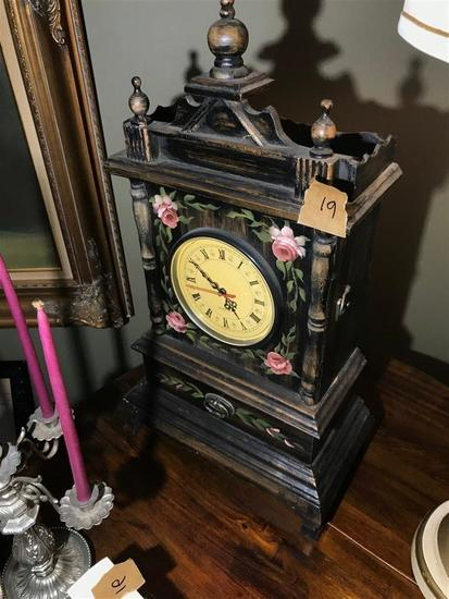 Modern Clock with old style Painted Case Unusual