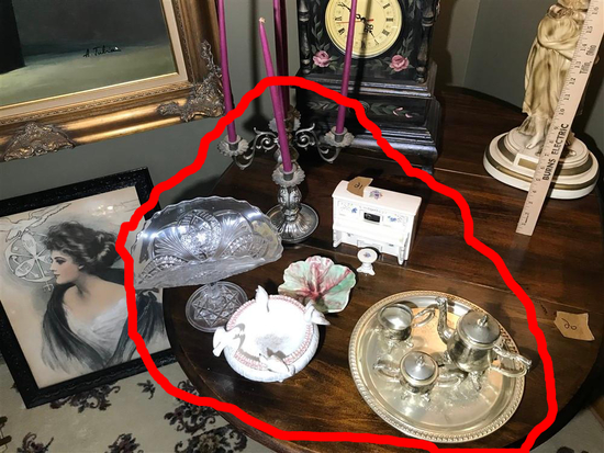 Group Lot Assorted Vintage Items on Table