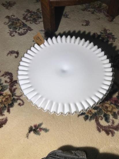 Fenton Silvercrest Large Sized Cake Plate Nice