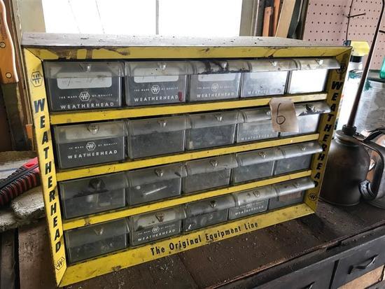 Vintage Weatherhead Tool Sorter Box w/Contents