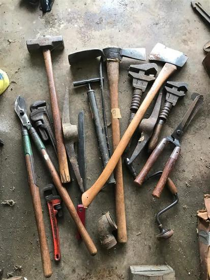 Large Lot Early Antique Tools Bremen Oil Field etc