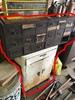 Grey Metal Tool Sorter + White Cabinet