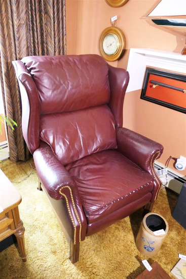 Vintage Leather Recliner Chair Nice