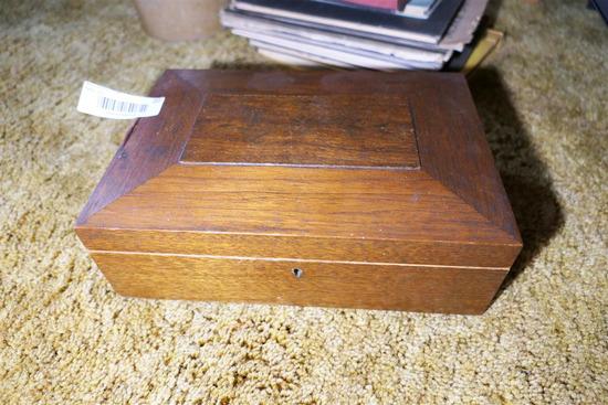 Antique Wooden Document Box Stencil Design