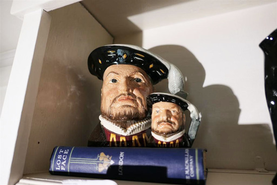 Pair Royal Doulton Toby Jugs Mugs Henry VIII