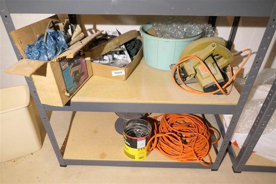 Two Shelves of Tools and related contents etc