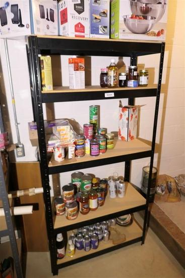 6' high metal utility shelf
