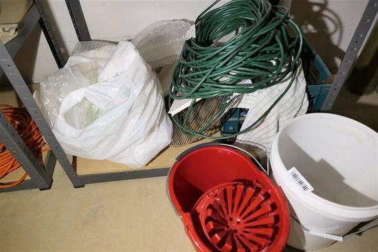 Assorted household items inc. extension cord
