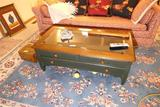 Vintage Coffee Table with Drawers 45.5