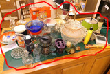 Counter Lot of Assorted Vintage Glass and more