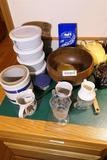Group Lot Assorted Kitchen Items Stoneware, bowl