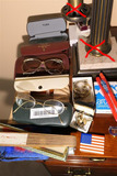 Group Lot Assorted Watches, Fan, Glasses etc